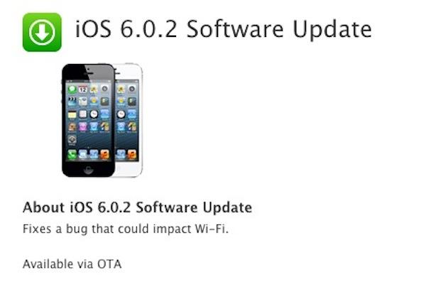 iOS 6.0.2 actualizacion