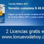 Ya entregamos las dos licencias de tuneup utilities 2013