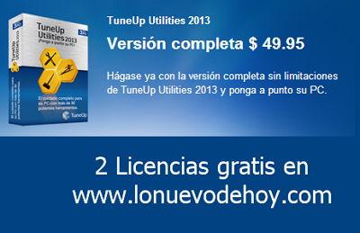 licencias gratis de tuneup 2013