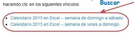 Calendario 2013 en Excel imagen