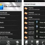 File Commander: aplicación para gestionar archivos locales y remotos