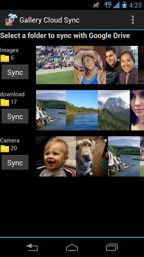 Cargar imagenes a Google drive (Android)