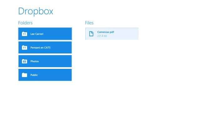 app de dropbox para windows ocho