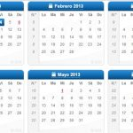 Calendario 2013 en formato de imagen para descargar
