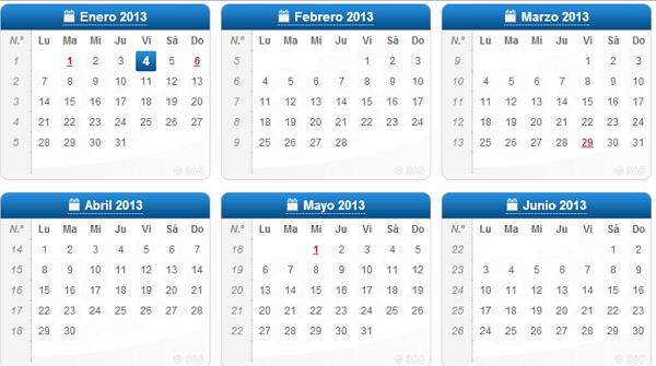 calendario 2013 en jpg