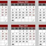 Calendario 2013  en formato PDF para imprimir