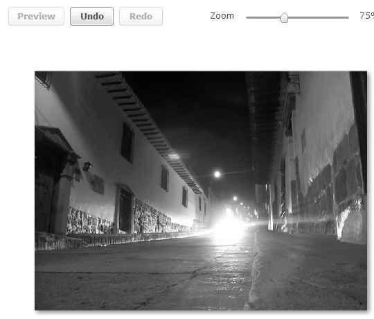 imagen en blanco y negro efecto