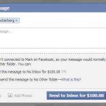 Enviarle un mensaje privado al creador de Facebook costaría 100 dolares