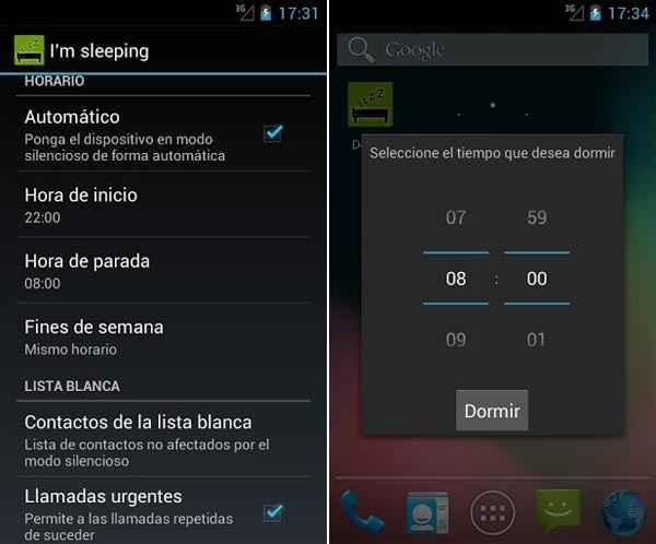 no molestar mientras duerno android