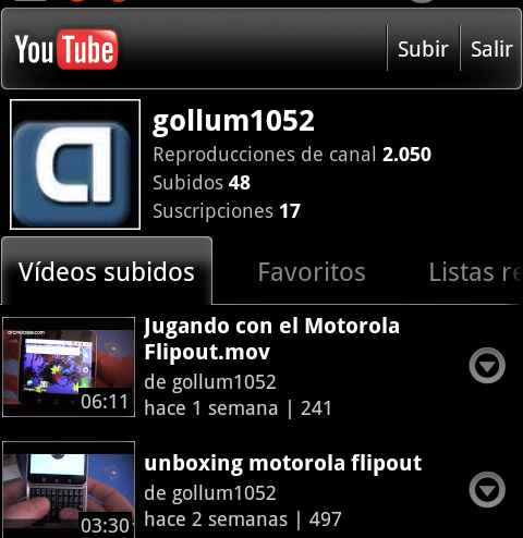 nuevo youtube android