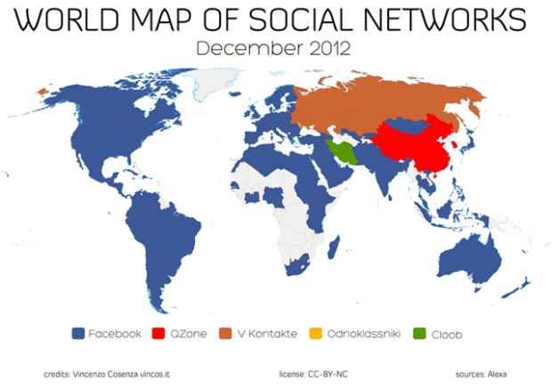 redes sociales en un mundo