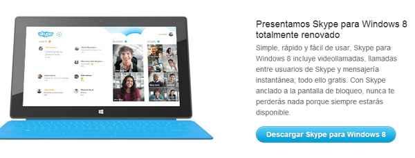 skype 2013 para windows 8