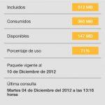 Consumo de Internet Telcel Android