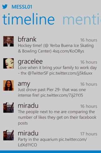 Twitter para Windows Phone 8