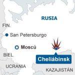Imágenes del asteroide que cayó en Rusia