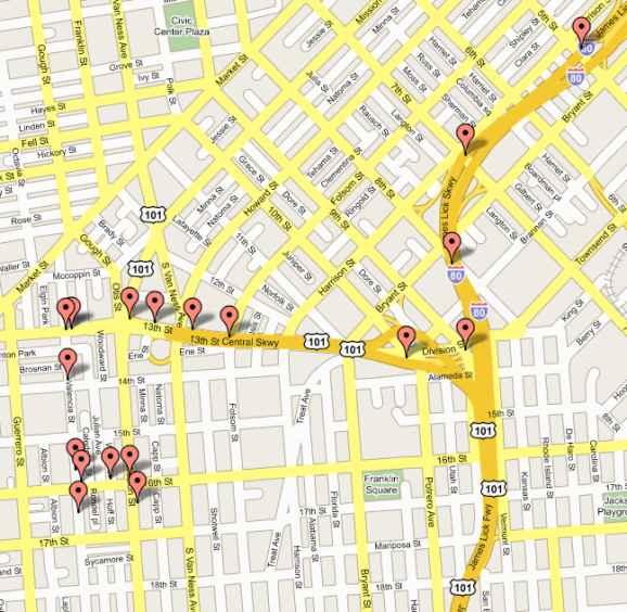 google maps calles