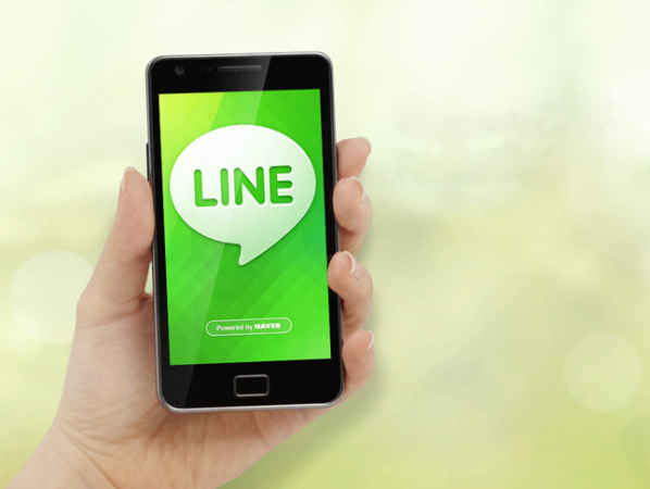 line en un smartphone