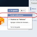 recibir notificaciones de paginas en facebook