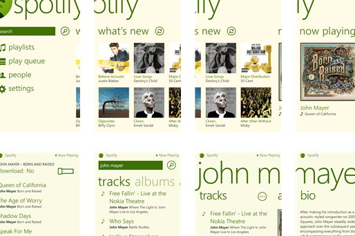 spotify para windows 8
