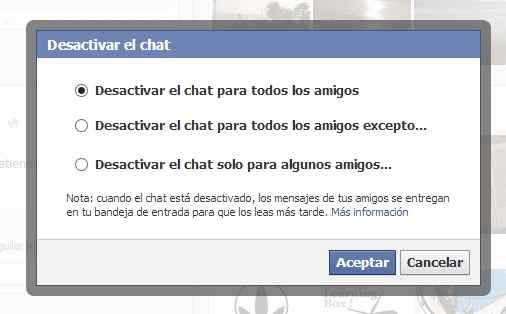 desconectarme del chat de facebook
