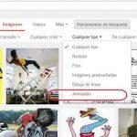 Cómo encontrar solo imágenes o fotos animadas (Gif) en Google