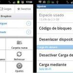 Cómo deshabilitar la carga de fotos en Dropbox para Android