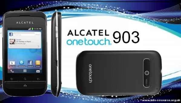 Alcatel OT 903 negro