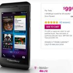 BlackBerry Z10 con T-Mobile en oferta