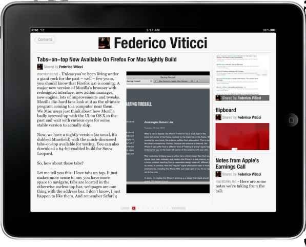 Flipboard en tablet