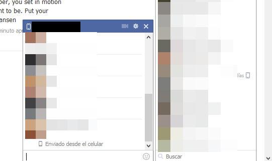abrir la ventana de chat fb