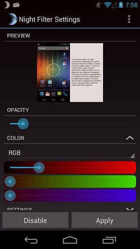 android bajar el brillo