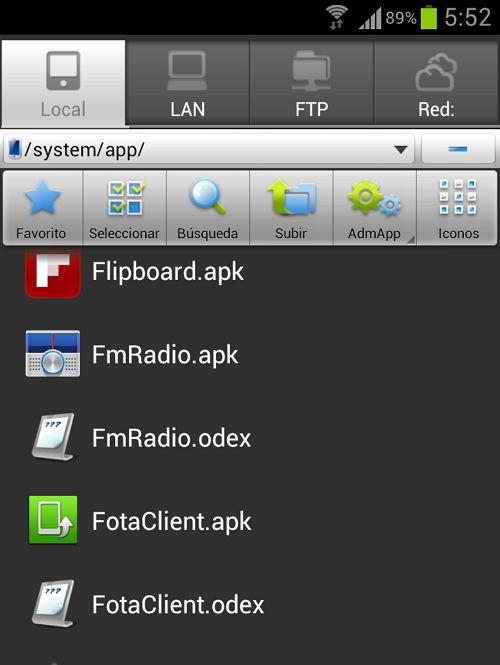 aplicaciones Android ruta