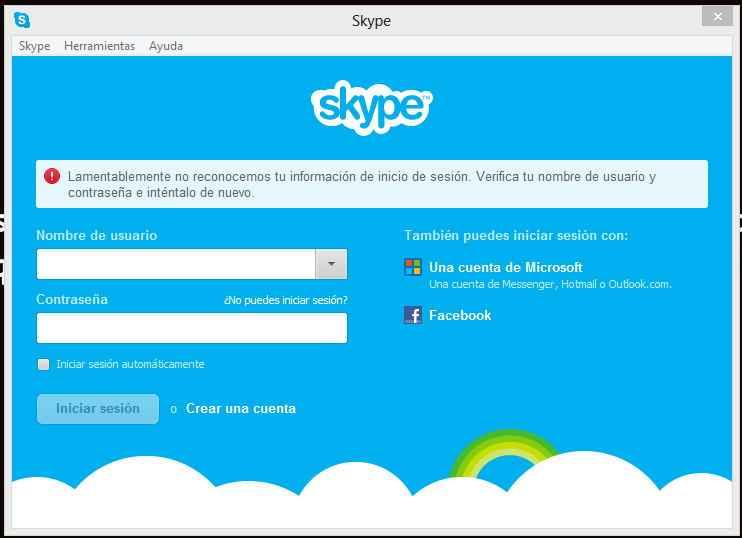 entrar a facebook con skype