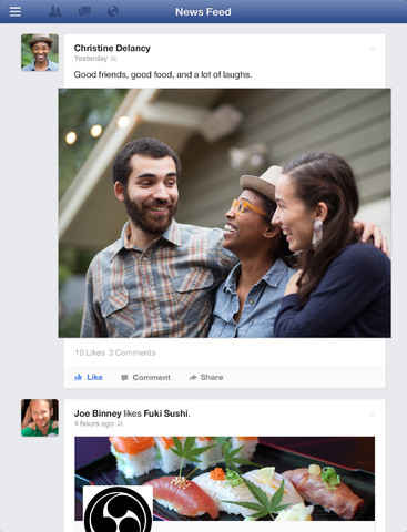 facebook home en el ipad