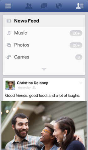 facebook home en el iphone