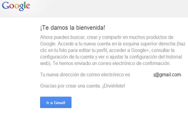 gmail correo creado