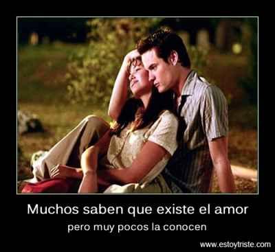 muchos saben que existe el amor