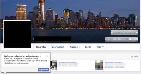 nuevo perfil de facebook 2013
