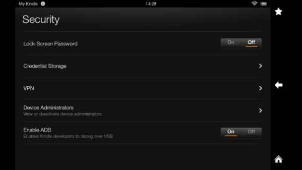 seguridad en el kindle fire