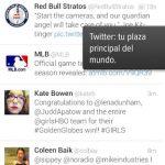 Twitter con interfaz Holo para Android
