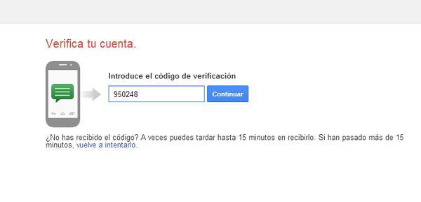 verificar la cuenta de Gmail