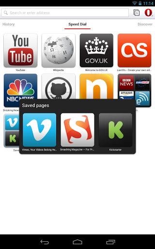 Descarga Opera mobile