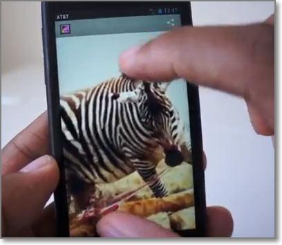 HTC First pantalla