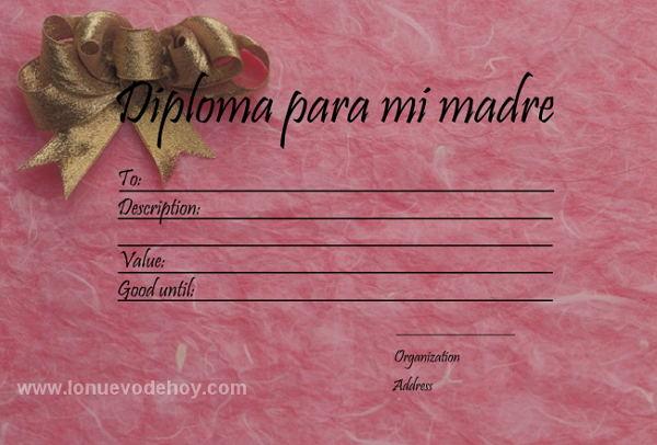 diploma para mi madre