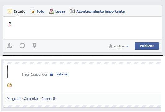 emoticon sacando la lengua facebook