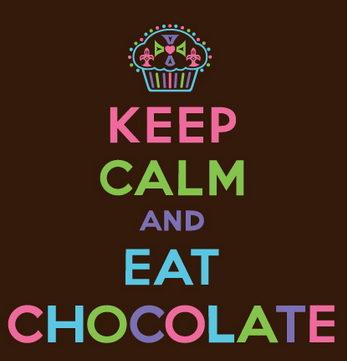 keep calm y come chocolate