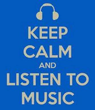 keep calm y escucha musica