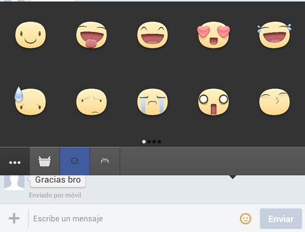 nuevos emoticones en facebook movil