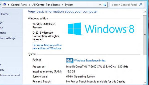 windows 2013 8