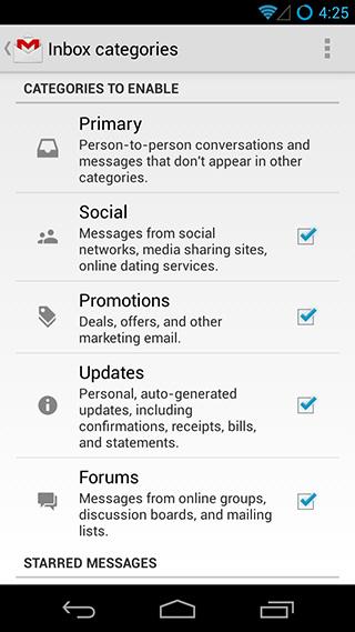 Gmail 2013 para Android
